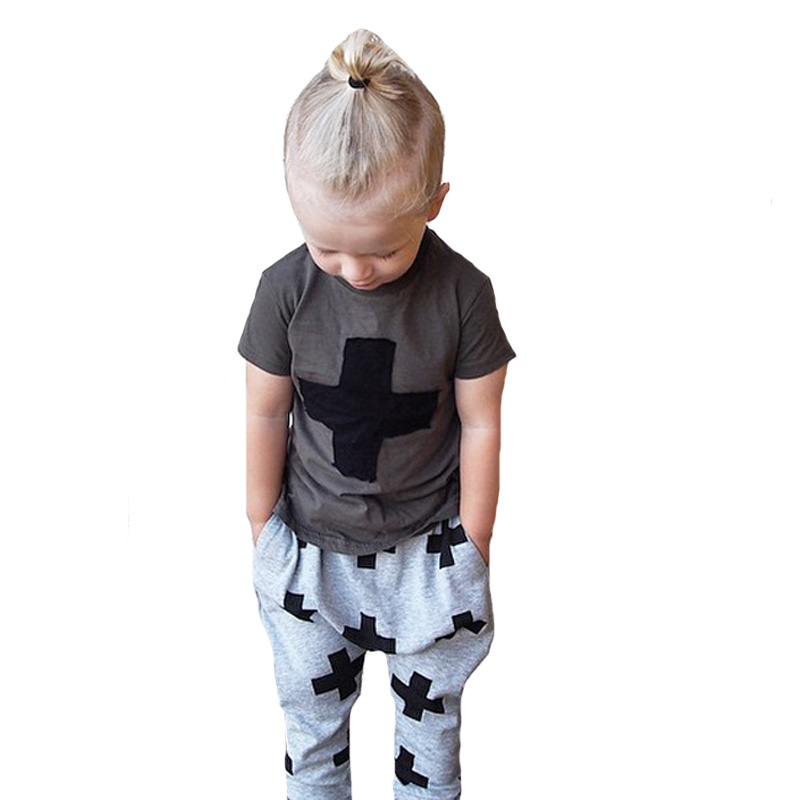 Spring/Autumn Children Set Baby Boy Clothing T-Shirt+Harem Pants Boy Sports Sets Childrens Clothing Casual Outfit Clothing Set new hot sale 2016 korean style boy autumn and spring baby boy short sleeve t shirt children fashion tees t shirt ages