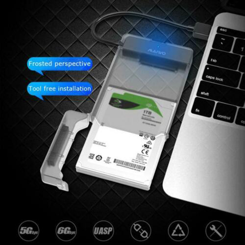 Usb 3.0 To Sata 3.0 Hdd Hard Drive Enclosure Support 2.5 Inch Ssd Free Tools 3TB External HDD Case 5Gbps For Adapter Hard Drive