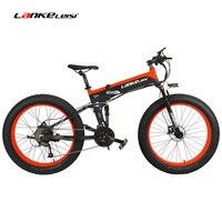 T750Plus Sport 26 4 0 Fat Bike 1000W 500W 48V Folding Mountain Bike Hidden Lithium Battery