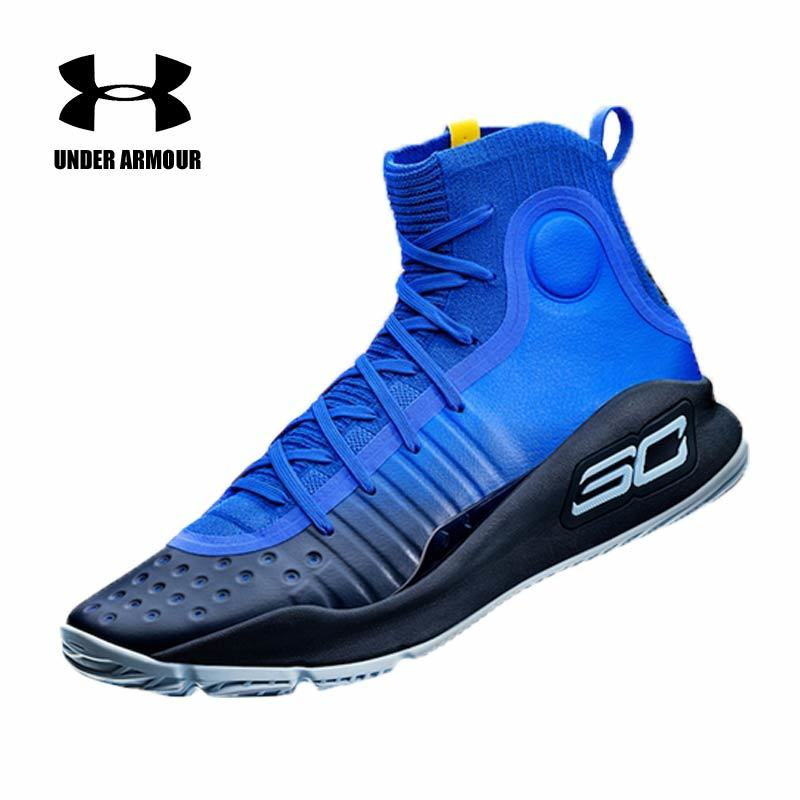 fa1ed29e8abc Under Armour Shoes Men UA Curry 4 CS Basketball Shoes More Fun Dubs Range  White Gold Cal Bears Sneakers Men zapatos sports shoes-in Basketball Shoes  from ...