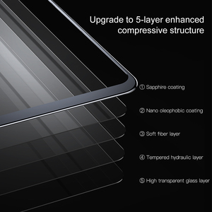 Image 4 - Baseus Tempered Glass For iPhone X Screen Protector 4D Surface Full Coverage Glass For iPhone X Front Film Cover 0.3mm Thin Film