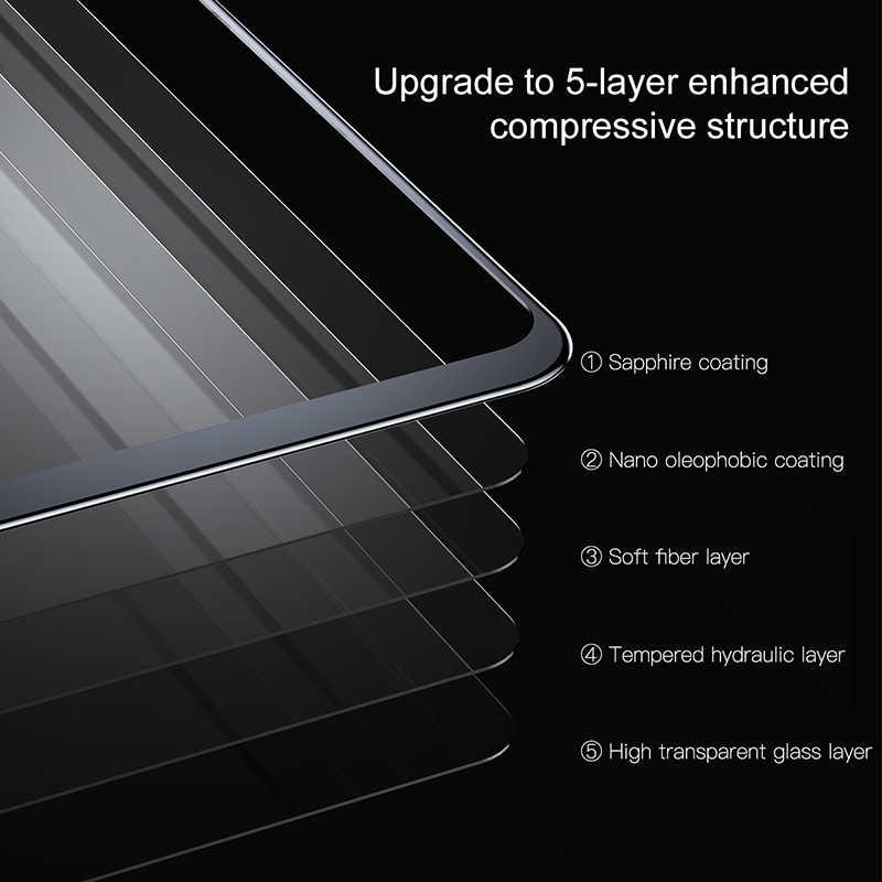 Baseus الزجاج المقسى ل آيفون X واقي للشاشة 4D سطح التغطية الكاملة الزجاج ل آيفون X الجبهة فيلم غطاء 0.3 مللي متر رقيقة