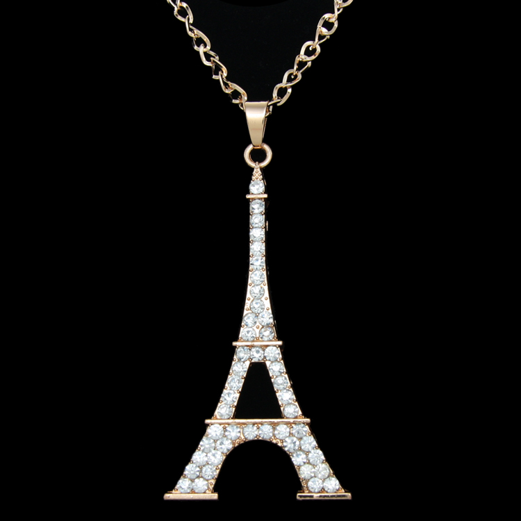 Big eiffel tower pendant necklace rhinestones silver link chain big eiffel tower pendant necklace rhinestones silver link chain necklace paris sweater necklace women fashion jewelry nke m69 in pendant necklaces from aloadofball Images