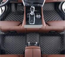 Esteras del Piso del coche Para Mercedes-benz G350 W463 G400 G500 G550 G55 G63 G65 1990-2017 Pie Alfombras paso Esteras Bordado + Cuero