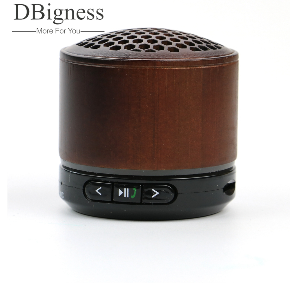 Dbigness Wooden Bluetooth Speaker Wireless Subwoofer Stereo Speaker MP3 Music Player Support TF FM Radio Handsfree for Phone