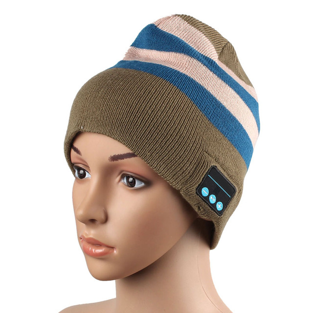 Hot Sale Hat Wireless Bluetooth Smart Cap Headset Headphone Speaker Mic Women cap hat Wireless Bluetooth Smart Cap free shipping