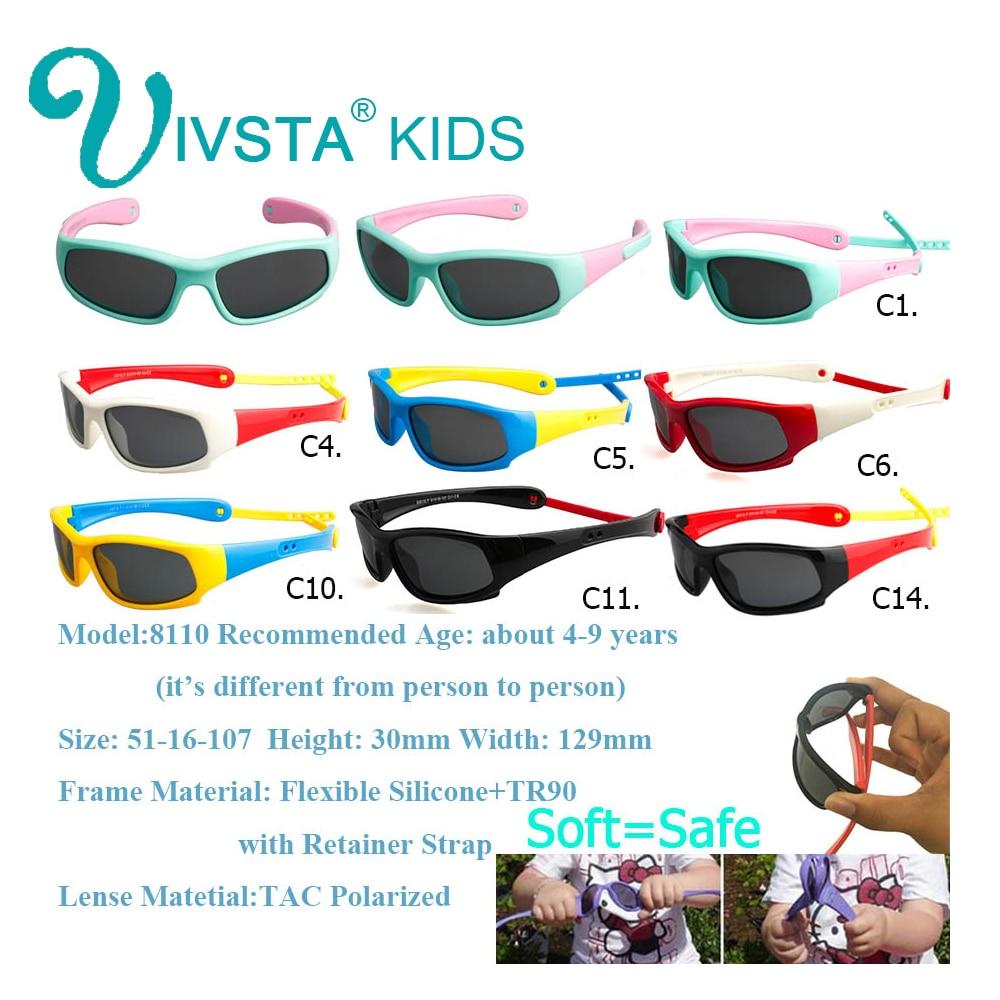 IVSTA Kinder Sonnenbrille Jungen Silikonband Polarisiert Flexibel - Bekleidungszubehör - Foto 2
