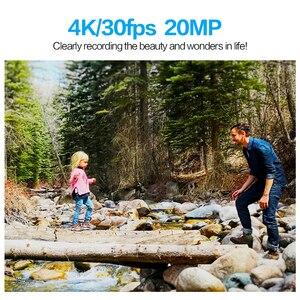 Image 3 - GEEKAM عمل كاميرا T1 شاشة تعمل باللمس الترا HD 4 K/30fps 20MP واي فاي تحت الماء مقاوم للماء دراجة خوذة المتطرفة الرياضة كاميرا فيديو