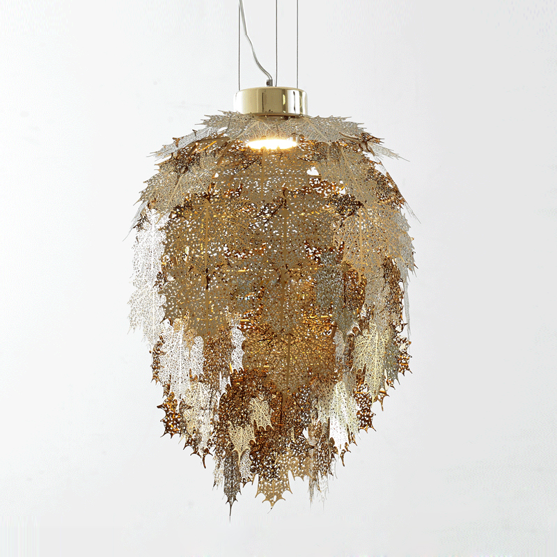 Kung Modern etching stainless leaves led Pendant light gold silvers led lamp  shade with leaves shade drop ligh decoration - Online Get Cheap Leaf Lamp Shade -Aliexpress.com Alibaba Group