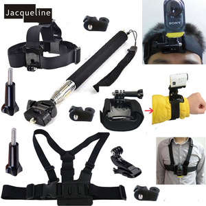 Jacqueline for Monopod Mount Accessories Head Chest Strap Kit for Sony Action Cam HDR-AS15 AS20 AS30V AS100V AS200V AZ1 mini(China)