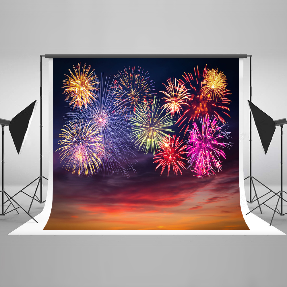 Kate 10x10ft Christmas Photography Backdrops Colorful Firecracker Newborn Photography Backdrop Cotton Washable Printed Backdrops сумка kate spade new york wkru2816 kate spade hanna