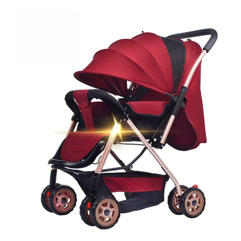New Style Unisex baby stroller High Landscape light folding umbrella car can sit can lie ultra-light portable on the airplane 2018 new style baby carriage baby stroller light folding umbrella car can sit can lie ultra light portable on the airplane