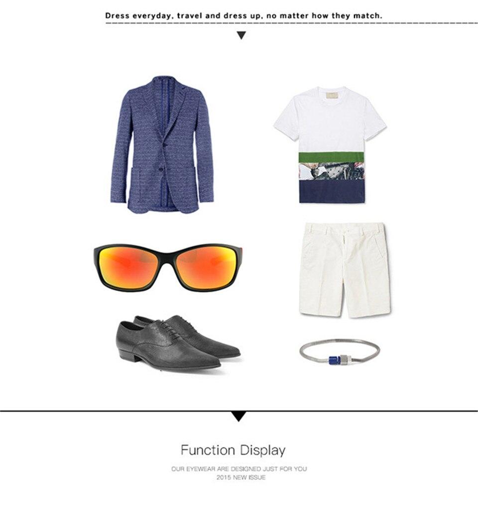 RILIXES 2018 Fashion Guy\'s Sun Glasses From Kdeam Polarized Sunglasses Men Classic Design All-Fit Mirror Sunglass (16)