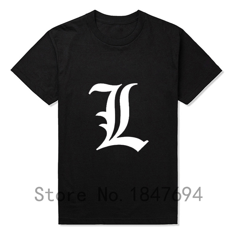 New Brand Quality Japanese Cartoon Comic Death Note Men Short Sleeve Round Neck Death Note T Shirt