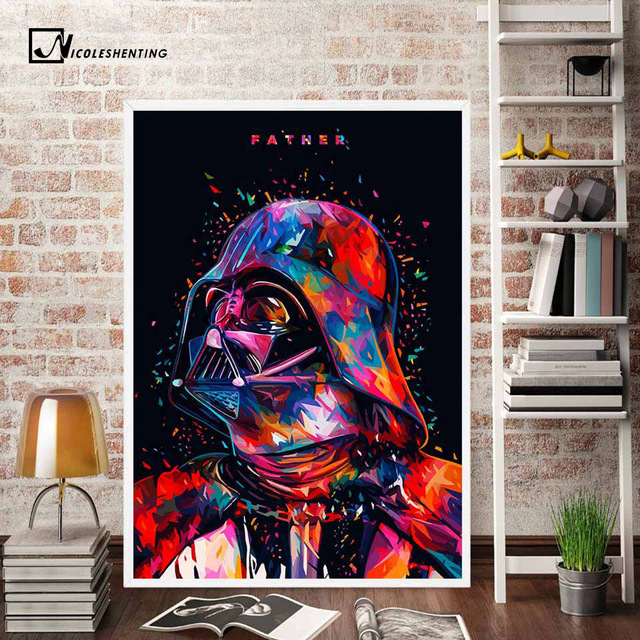 Star Wars Art Poster Painting Of Darth Vader – Stormtrooper – Boba Fet (5 Designs)