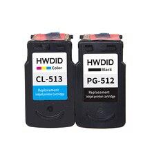 2 Pack PG-512 PG 512 CL 513 cartucho de tinta para Canon pg512 CL-513 utilizado para Canon IP2700 MP240 MP250 MP270 MP480 MX350 MP230