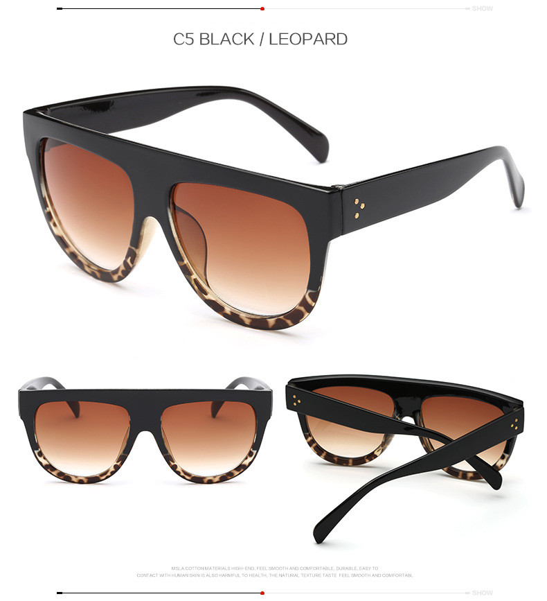Oversize Retro Flat Top Cat Eye Glasses 4