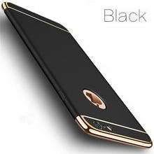 Роскошный Золотой Жесткий Чехол для iPhone 7, 6, 6 S, 5, 5S, SE, X, задняя крышка, Xs Max, XR, 11 Pro, съемный чехол 3 в 1, для iPhone 8, 7, 6, 6s Plus, сумка