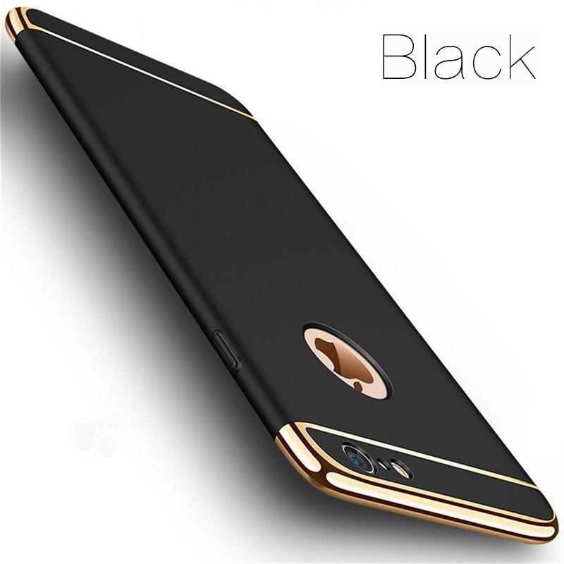 Роскошные золотые Жесткий Чехол для iPhone 7 6 6s 5 5S SE X задняя крышка Xs Max XR Съемный 3 в 1 Fundas чехол для iPhone 8 7 6 6s плюс сумка