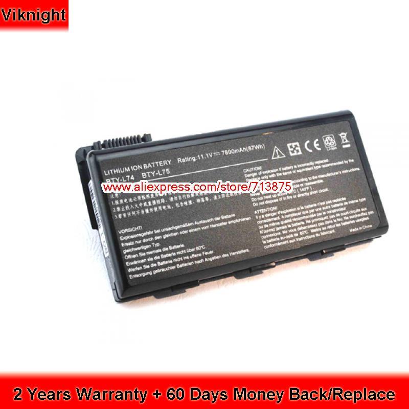 BTY-L75 BTY-L74 Battery for MSI CX600X CR620 A5000 A6000 Cr610 7800mAh laptop battery for msi ge60 ge70 cr650 fr700 fr600 bty s14 li ion 11 1v 49wh new