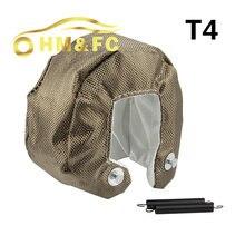 Hmfc titanium t4 турбонагнетатель обложка turbo одеяло теплозащитный экран крышка