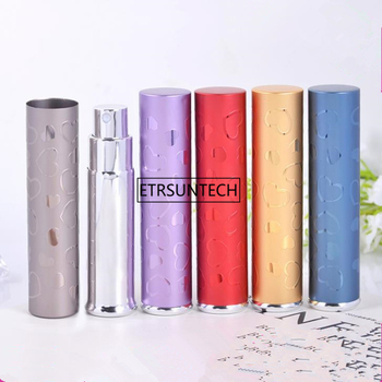7ml Refillable Mini Perfume Glass Bottle Traveler Aluminum Spray Atomizer Travel Perfum Spray Bottle F1954