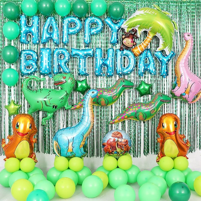 Big Dinosaur Balloon Baby Shower Large Jurassic Park Dinosaurs Ballon Boy Birthday Party Decorations Kids