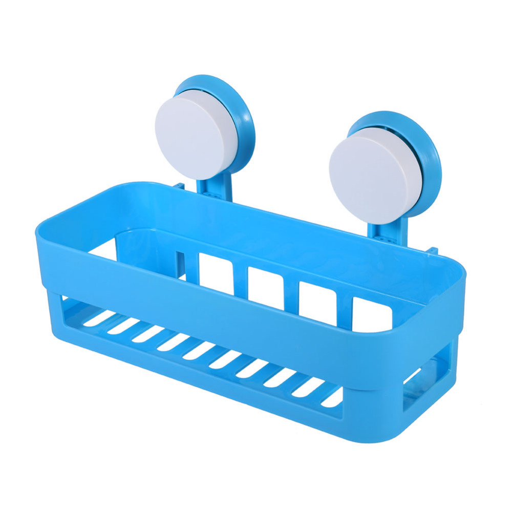 Plastic Sink Sucker Organizer Shelf Bathroom Wall Vacuum Suction Cup ...