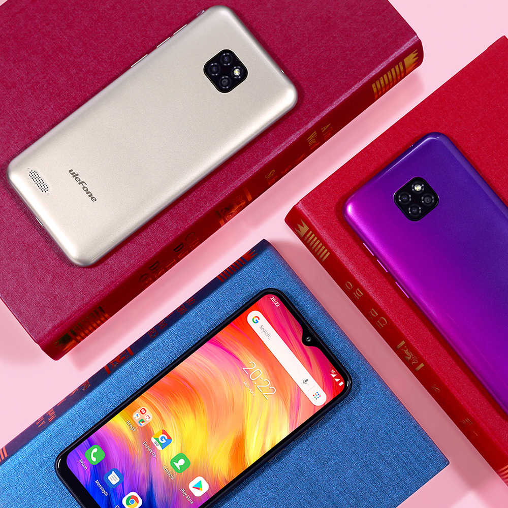 Ulefone Note 7 Smartphone 3500mAh 19:9 Quad Core 6.1 pouces écran goutte d'eau 16GB ROM téléphone portable WCDMA téléphone portable Android8.1