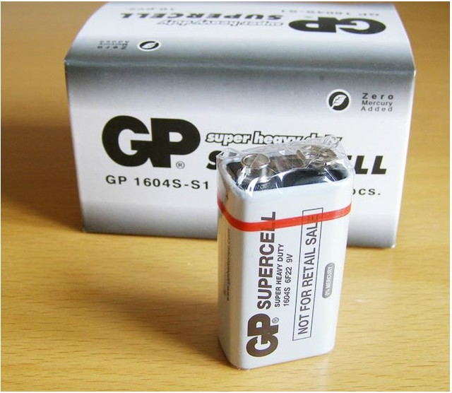5 шт./лот Новый Оригинальный GP 9 В 6F22 1604 S тяжелых Батарея Батареи для Камера Игрушечные лошадки пульт дистанционного управления