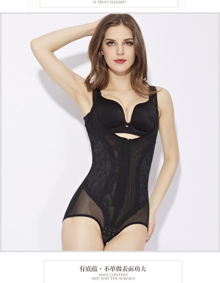 eb7f0e03cc0 3XL 4XL 5XL Plus size Women Control Full Body Shaper Slimmer Waist Cincher  Butt Lift Bodysuits Shapewear Zipper Corset Underwear
