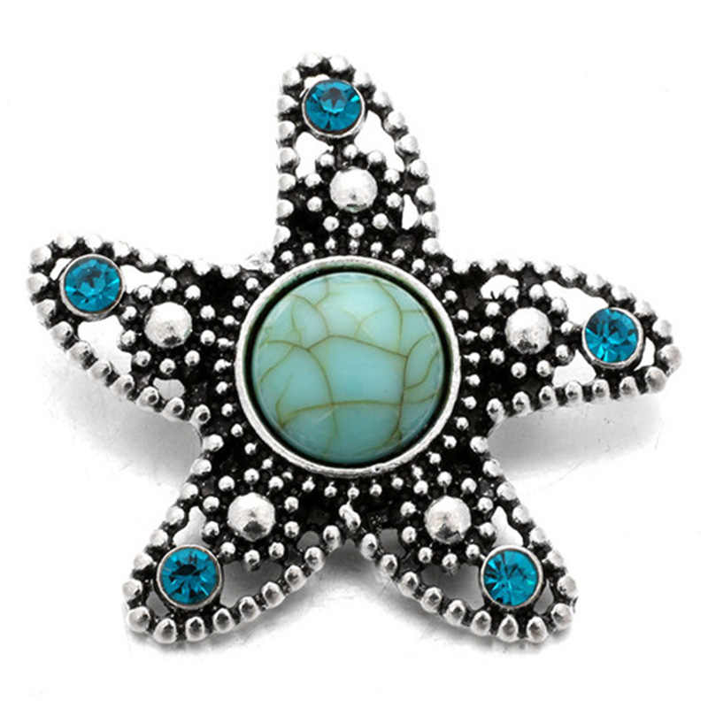 Moda Bella turchesi tartaruga Starfish Fiori elefante 20 MILLIMETRI bottoni a pressione a scatto braccialetto a scatto commercio all'ingrosso dei monili