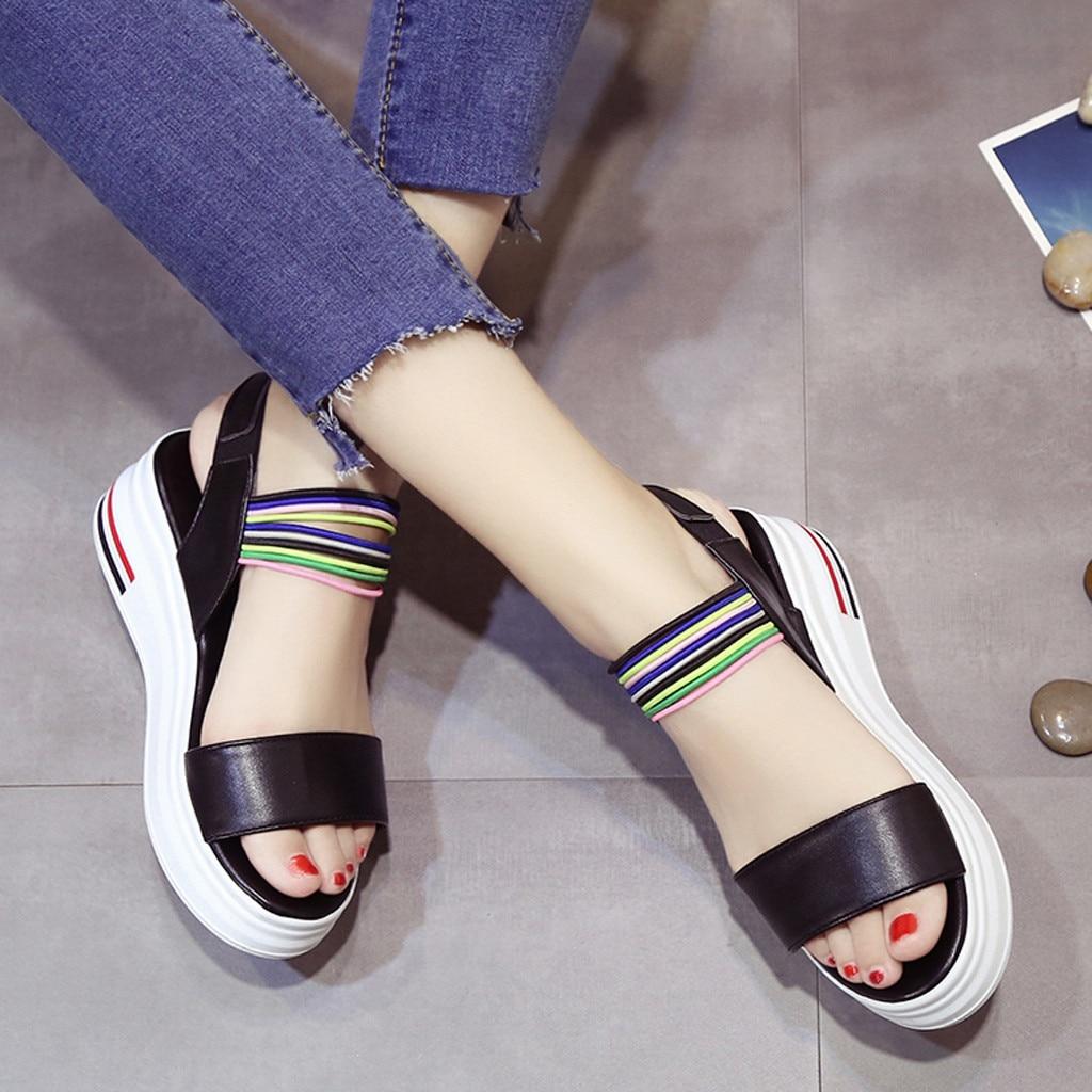 Roman Sandals Footwear Flat-Shoes Flip-Flops Peep-Toe Ladies Casual -G4