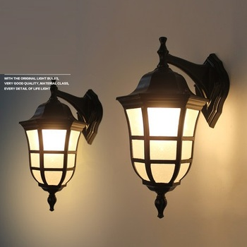 American Vintage Wall lamp LED Outdoor Wall Sconce Lighting Ip65 Waterproof Garden Wall Light Fixtures Iron Glass Porch Lights
