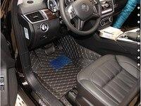 Хорошее качество! Специальные коврики для Mercedes Benz GL 400x166 7 мест 2016 2013 водонепроницаемый ковры для GL400, бесплатная доставка