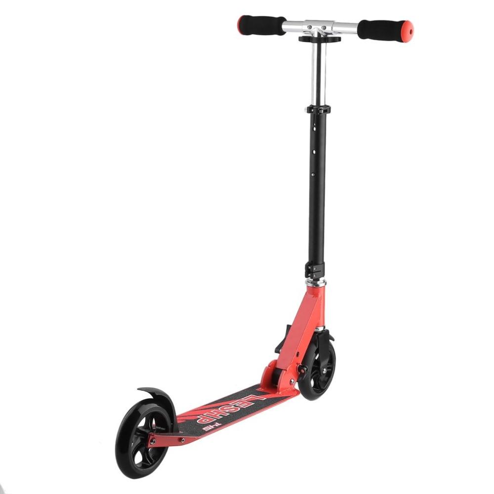 2 Wielen 145 MM Hoogte Verstelbare Volwassen Kick Scooter Draagbare Vouwen Outdoor Urban Transport Smart Scooter Schip Uit RUS