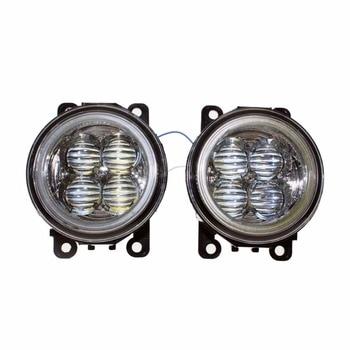 For DACIA LOGAN Saloon LS_ 2004-2011 2012 Car Styling Bumper Angel Eyes LED Fog Lamps DRL Daytime Running Fog Lights OCB Lens