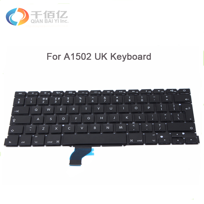 """Replacement Apple Macbook Pro Retina 13/"""" A1502 Laptop UK Keyboard With Backlight"""