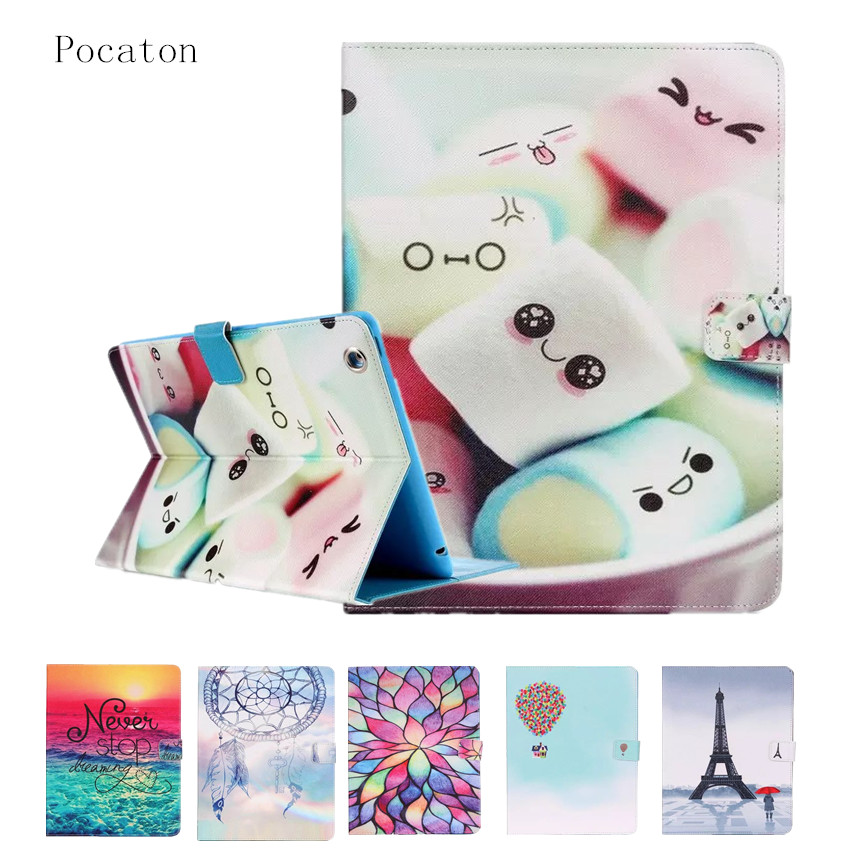 Case for iPad 2 3 4,Pocaton Smart PU Leather Silicone Case Stand Flip Kids Cover For Apple iPad 4 model A1458 A1459 A1416 A1396 nice soft silicone back magnetic smart pu leather case for apple 2017 ipad air 1 cover new slim thin flip tpu protective case