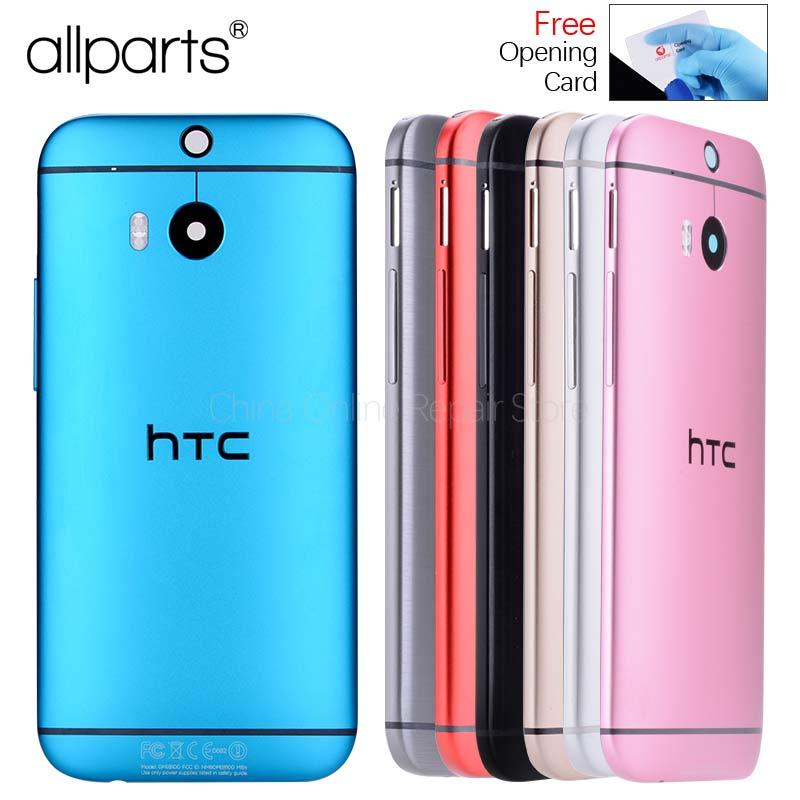 Original Hinten Zurück Gehäuse Für HTC EINS M8 Zurück Abdeckung Batterie Tür 831C Fall mit Volumen Power-Taste Kamera Objektiv ersatz
