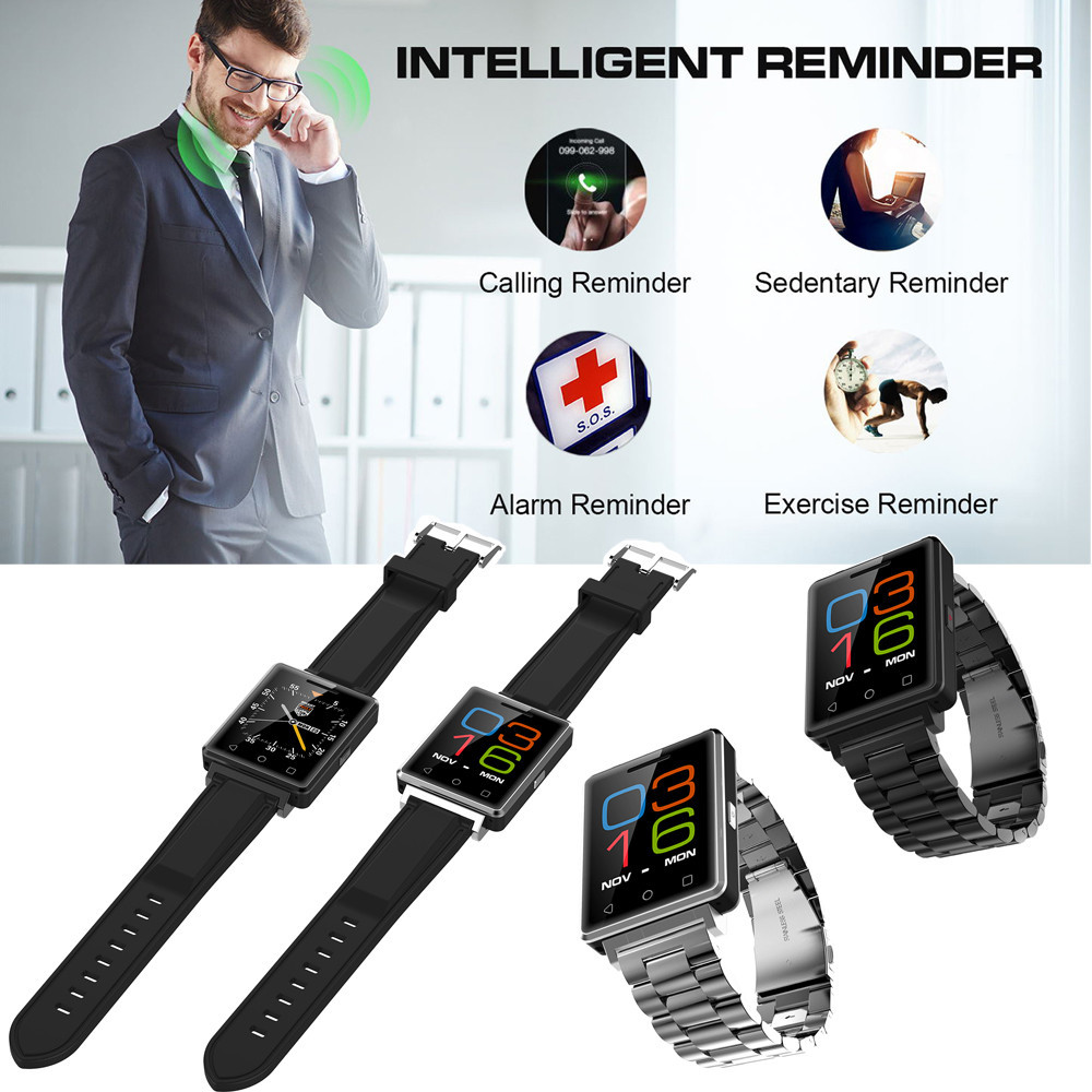 Smart Wrist Watch Bluetooth Fashion New Camera Heart Rate Calls On Watch Syncs Phone Contacts For Android iOS BFOF floveme e8 fashion passometer bluetooth smart watch on wrist for android ios adult reloj intelligent smartwatch sapphire mirror