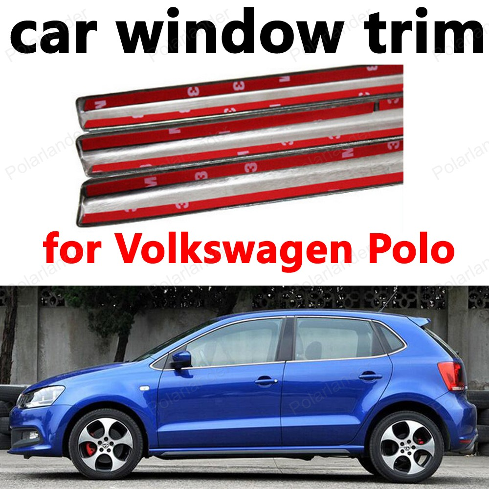 Car Styling Stainless Steel Window Trim Decoration Strips For Ceviro Ciello Hand Bag Sling Volkswagen Polo