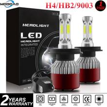 Car Lights Bulbs LED H4 Headlight 6000K 144W 14400LM 4-Side Kit Low Beam Bulbs High Power Auto Headlights 12V Led Light