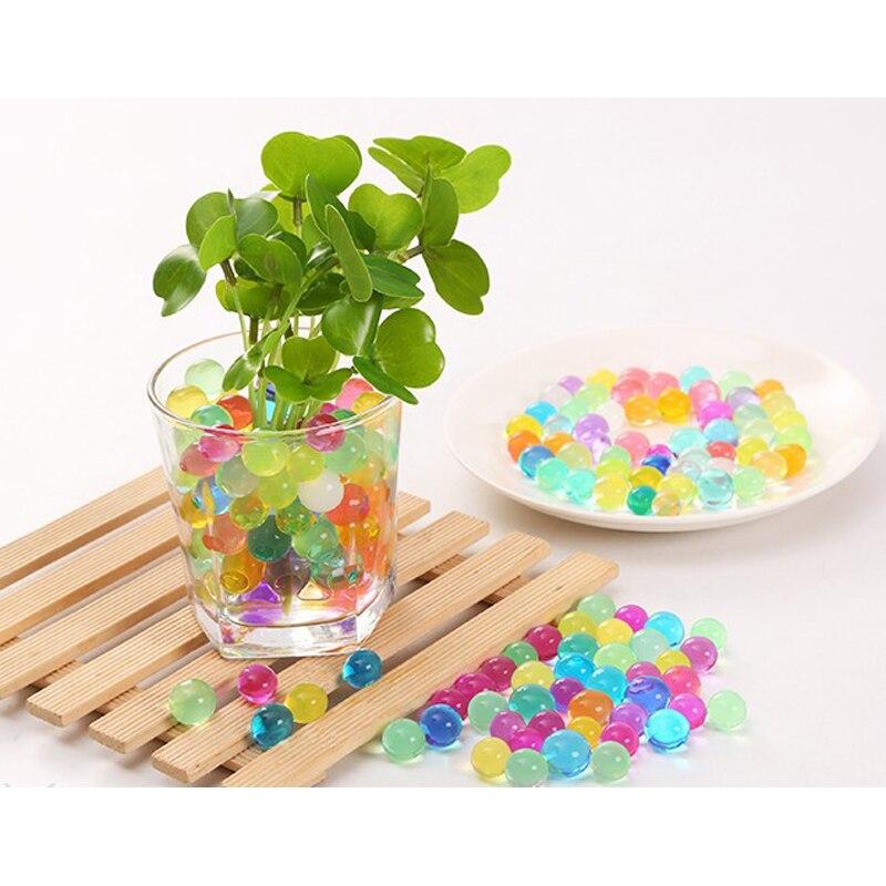 12 sacs (2400 pièces) cristal sol Gel polymère perles d'eau fleur/mariage/décoration Maison en croissance boules d'eau grand