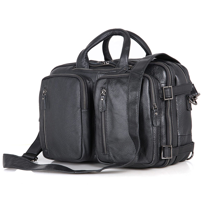 High Quality Multifunctional Vintage Leather Backpack For Mens Travel Bag 7014A