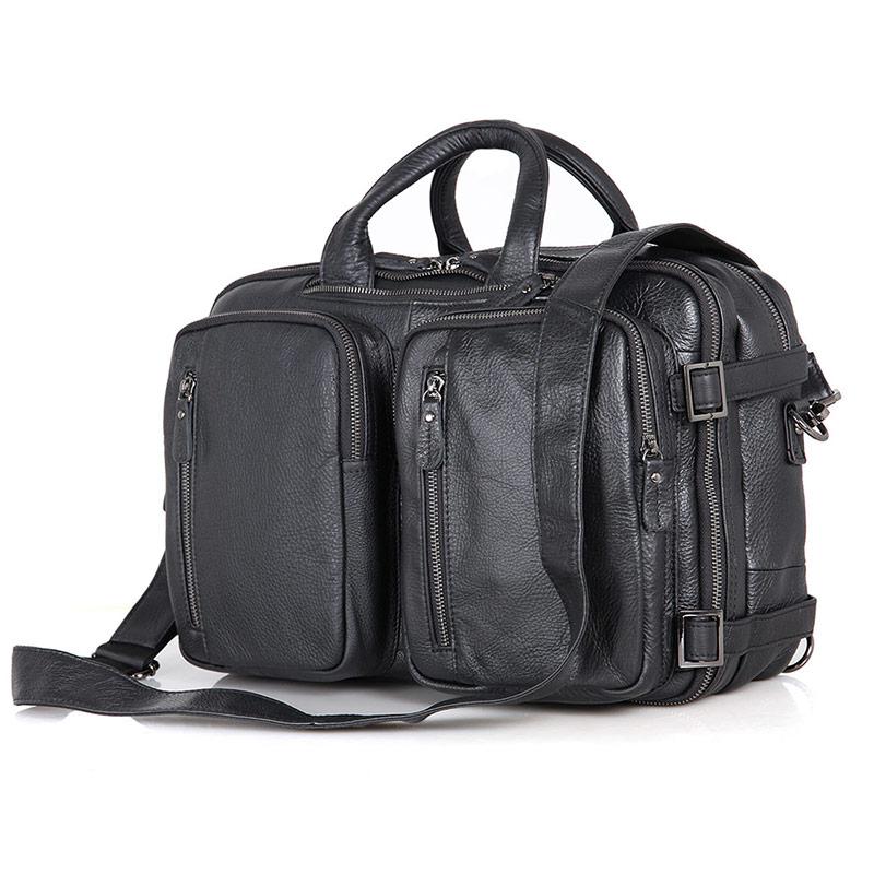 Multifunctional Vintage Leather Backpack For Men's Travel Bag 7014A