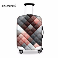 INSTANTARTS Thickened Luggages Protective Cover For 18 30 Inch Trolley Cases Waterproof Elastic Suitcases Bag Dust