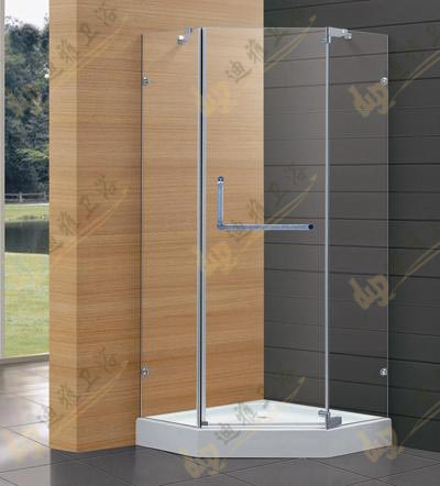 Diamond open door shower cabin shower room simple bathroom glass ...