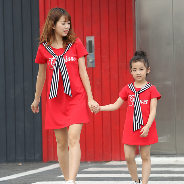 521f639f3305 Family matching mother daughter mommy and me clothes family look korean  fashion clothing wear girls women summer dress outfits 9