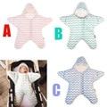 Carrinho de bebê Saco de Dormir Em Forma de Estrela Inverno Quente Grosso saco saco de Dormir para Recém-nascidos Infantil bebe dormir slaapzak